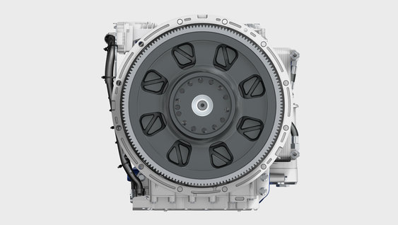 The I-Shift Dual Clutch from the engine side