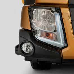 LED lamps on a Volvo FL