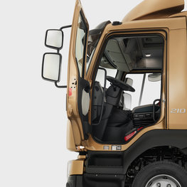The safe and comfortable cab of the Volvo FL