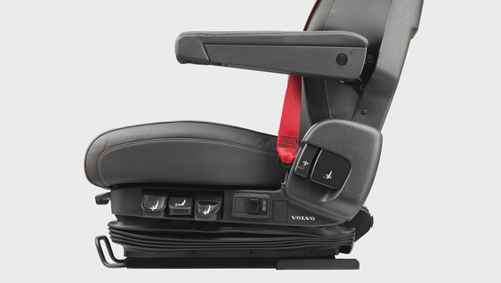 The new comfortable driver seat of the Volvo FM