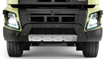 Volvo FMX front underrun protection system
