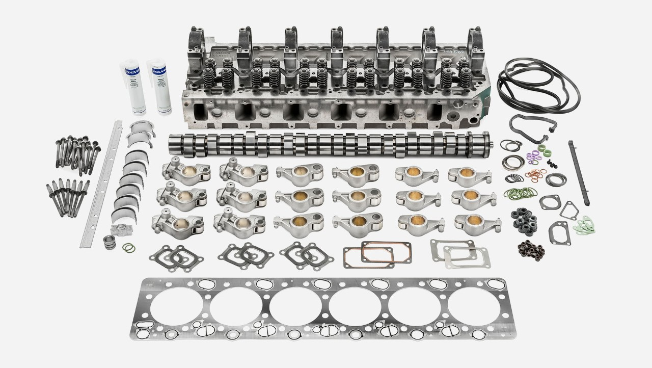 Volvo Trucks 引擎全面檢查套件 (引擎上部)